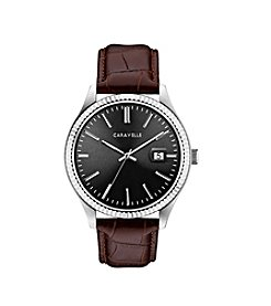 Caravelle by Bulova Men's Leather Strap Dress Watch