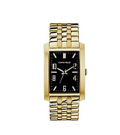 Caravelle by Bulova Men's Rectangular Goldtone Bracelet Dress Watch