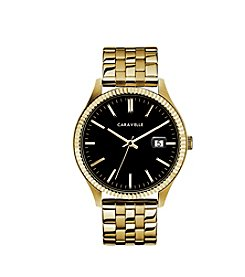 Caravelle by Bulova Men's Coin Edge Goldtone Bracelet Dress Watch
