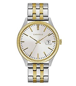 Caravelle by Bulova Men's Two-Tone Goldtone Bracelet Dress Watch