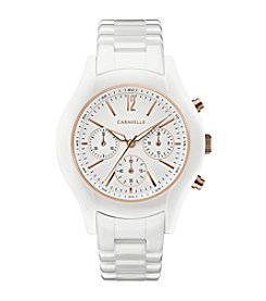 Caravelle by Bulova Women's Chronograph Ceramic Bracelet Sport Watch