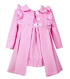 Bonnie Jean Baby Girls' Jacquard Dress and Coat Set