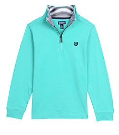 Chaps Boys' 4-20 Long Sleeve Quarter Zip Harry Top
