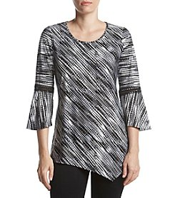 Studio Works Printed Bell Sleeve Top