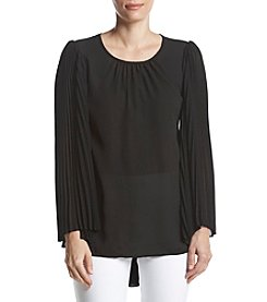 Philosophy by Republic Clothing Sheer Paneled Bell Sleeve Top