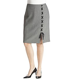 Nine West Plus Size Lace-Up Skirt