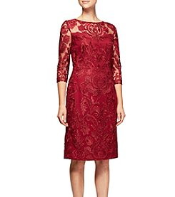 Alex Evenings Short Embroidered Dress