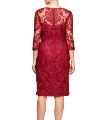 Alex Evenings Short Embroidered Dress