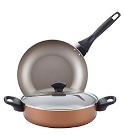 Farberware Dishwasher Safe Nonstick Cookware Set, 3-Piece