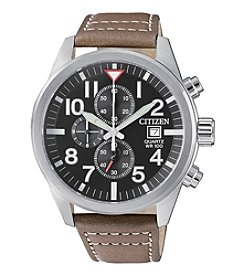 Citizen Men's Quartz Brown Leather Watch