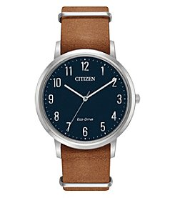 Citizen Men's Eco-Drive Chandler Brown Leather Watch