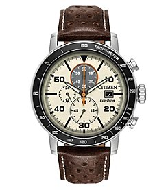 Citizen Men's Eco-Drive Brycen Brown Leather Watch