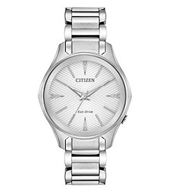 Citizen Women's Modena Silver Dial Stainless Steel Watch