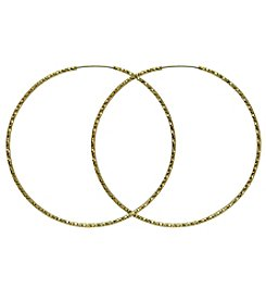 GUESS Goldtone Textured Extra-Large Hoop Earrings