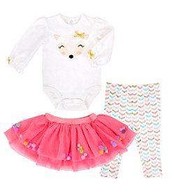 Cuddle Bear Baby Girls' 3M-24M 3 Piece Unicorn Tutu Set