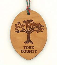 Aspiring Artists of the Earth York County Tree Ornament