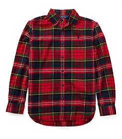 Polo Ralph Lauren Girls' 7-16 Flannel Top