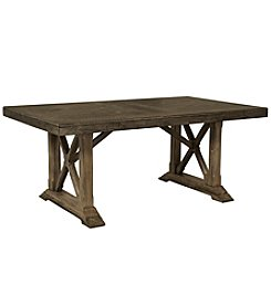 Whalen Furniture Lawton Dining Trestle Table