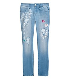 Jessica Simpson Girls' 7-16 Kiss Me Destructed Skinny Jeans