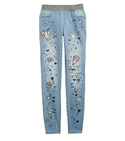 Jessica Simpson Girls' 7-16 Gracie Pull-On Doodle Skinny Jeans