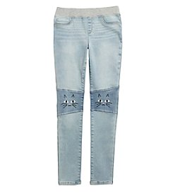 Jessica Simpson Girls' 7-16 Gracie Pull-On Kitty Skinny Jeans