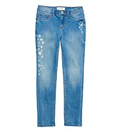 Jessica Simpson Girls' 7-16 Kiss Me Glow in the Dark Skinny Jeans