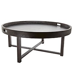 Dimond Home Round Teak Coffee Table Tray