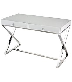 Dimond Home White Glass Desk