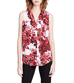 Calvin Klein Floral Pattern V-Neck Top