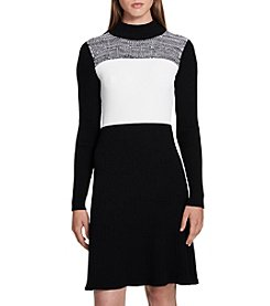 Calvin Klein Colorblock Sweater Dress