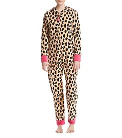 Zoe&Bella @BT Fleece Leopard One Piece Bodysuit