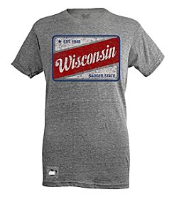 Brew City Brand Men's Wisconsin Patch Pop Top Short Sleeve Tee