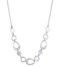 Nine West Silvertone Frontal Necklace