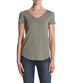Ruff Hewn Heather Pattern V-Neck Tee