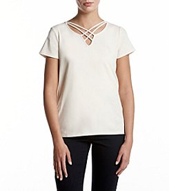 Ruff Hewn Strappy V-Neck Top