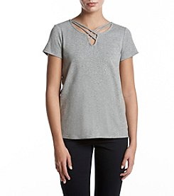 Ruff Hewn Lattice Neck Tee