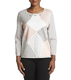 Alfred Dunner Petites' Colorblock Panel Sweater