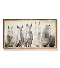 Ruff Hewn Horse Wall Plaque
