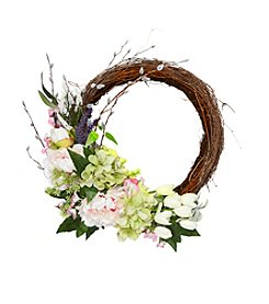 Living Quarters Flower Shop Floral Twig Wreath