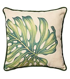 Living Quarters Burlap Leaf Pillow