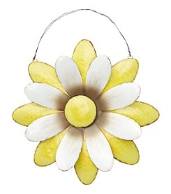 Living Quarters Yellow Flower Metal Wall Decor