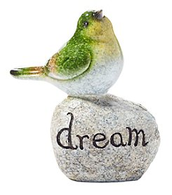 Living Quarters Green Bird On Stone