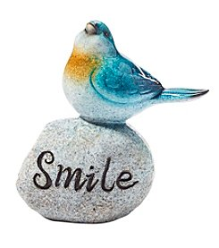 Living Quarters Blue Bird Smile On Stone