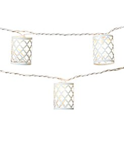 Summer Living 10-ct. White Trellis Lantern Outdoor String Lights