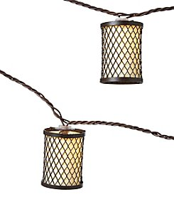 Summer Living 10ct Brown Shade Lantern Outdoor String Lights