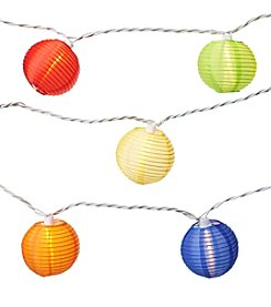 Summer Living 10ct Colored Paper Lantern Outdoor String Lights