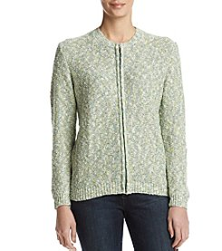 Alfred Dunner Space Dye Pattern Textured Sweater