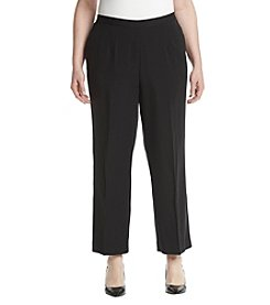 Alfred Dunner Plus Size Stretch Pleat Front Pants