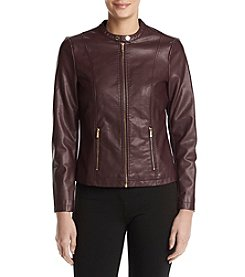 Calvin Klein Center Zip Snap Detail Moto Jacket
