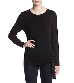 Ivanka Trump Pullover Side Drawstring Tie Sweater